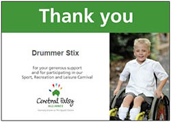 Thanks from Cerebral Palsy Alliance